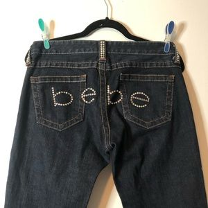 bebe Dark wash boot cut jeans
